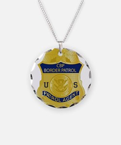 CBP badge Necklace Circle Charm