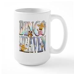Bingo Heaven Text Animals Large Mug