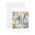 Bingo Heaven Text Animals Greeting Cards (Package