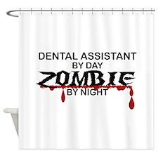 Dental Asst Zombie Shower Curtain
