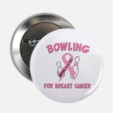 """Bowling for Breast Cancer 2.25"""" Button"""