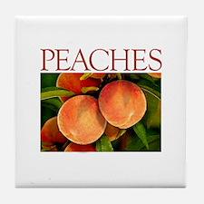 """PEACHES"" Tile Coaster"