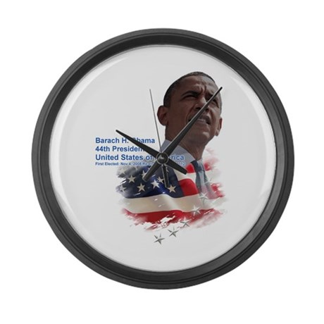 Obama re-elected: Large Wall Clock