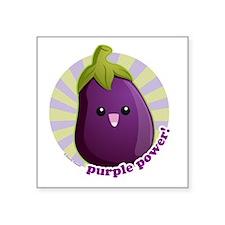 "Purple Power! Square Sticker 3"" x 3"""