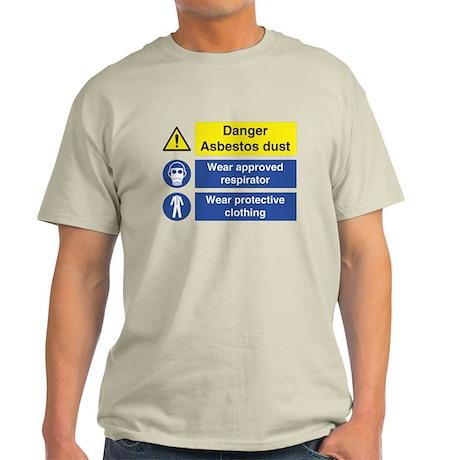 Danger Asbestos Sign Men's Light T-Shirt