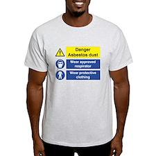 Danger Asbestos Sign Men's T-Shirt