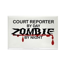 Court Reporter Zombie Rectangle Magnet
