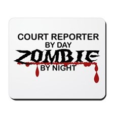 Court Reporter Zombie Mousepad