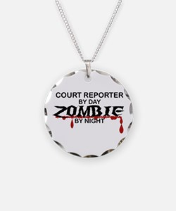 Court Reporter Zombie Necklace