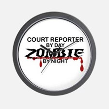 Court Reporter Zombie Wall Clock