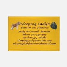Sleeping Lady's Bouviers Rectangle Magnet