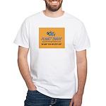 Shark's White T-Shirt w/Gold Logo