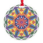 A Colorful Star Round Ornament