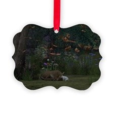 Fawn and Rabbit Ornament