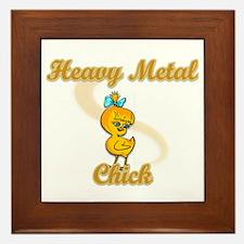 Heavy Metal Chick #2 Framed Tile