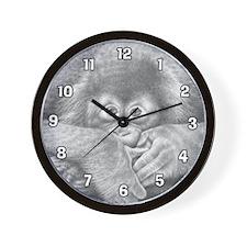 Baby Orangutan Wall Clock