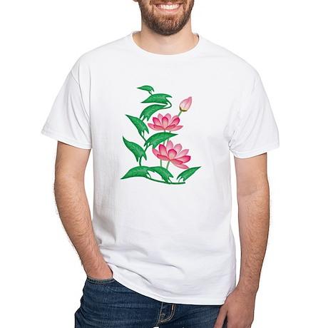 Lotus White T-Shirt