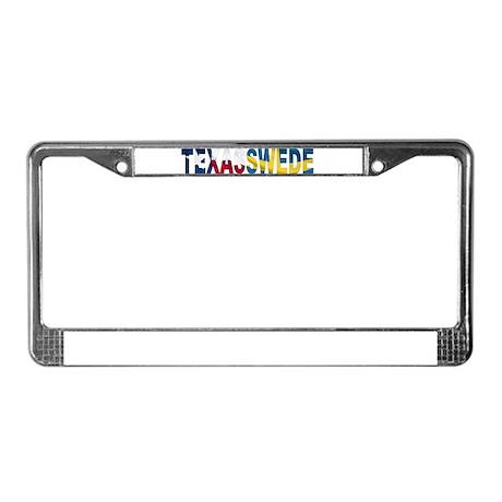 TexasSwede Logo License Plate Frame