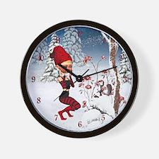 Winter Fairy Tales Wall Clock