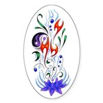 Beautiful Balance Oval Sticker