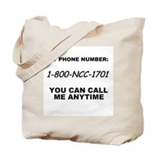 Star Trek Phone Number Tote Bag