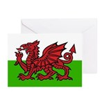 Welsh Flag Greeting Cards (Pk of 10)