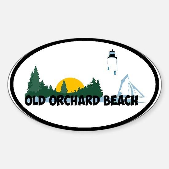 Old Orchard Beach ME - Beach Design. Decal