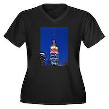 Empire State Building: No.2 Women's Plus Size V-Ne
