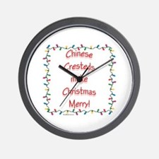 Merry Crested Wall Clock