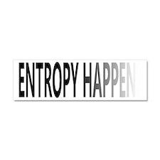 Entropy Happens Fade Car Magnet 10 x 3