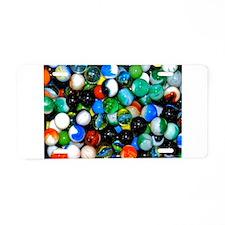 Marbles! Aluminum License Plate