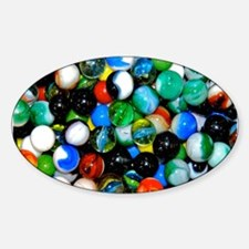 Marbles! Sticker (Oval)