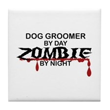 Dog Groomer Zombie Tile Coaster