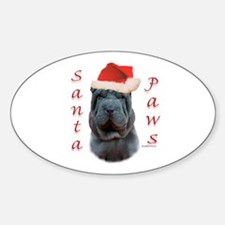Shar Pei Paws Oval Decal
