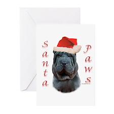 Shar Pei Paws Greeting Cards (Pk of 10)