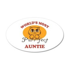 One Purrfect Auntie 35x21 Oval Wall Decal