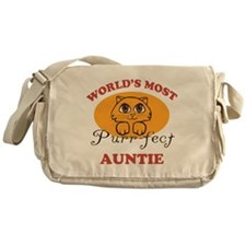 One Purrfect Auntie Messenger Bag