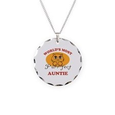 One Purrfect Auntie Necklace Circle Charm