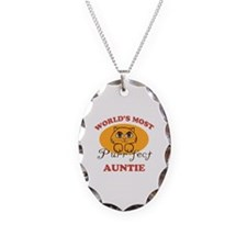 One Purrfect Auntie Necklace Oval Charm