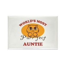 One Purrfect Auntie Rectangle Magnet