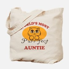 One Purrfect Auntie Tote Bag