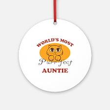 One Purrfect Auntie Ornament (Round)