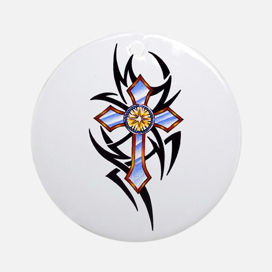 Touch of Tribal Ornament (Round)