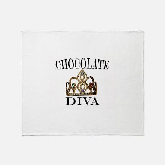 Chocolate Diva Throw Blanket