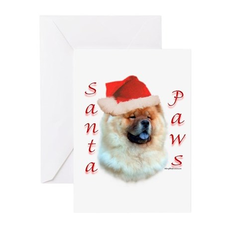 Chow Paws Greeting Cards (Pk of 10)
