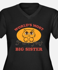 One Purrfect Big Sister Women's Plus Size V-Neck D