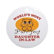 One Purrfect Daughter-In-Law Ornament (Round)