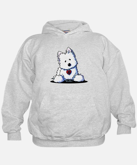 Westie Doorway To My Heart Hoodie