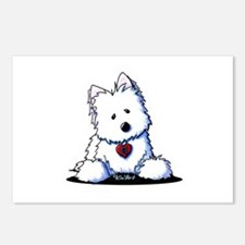 Westie Doorway To My Heart Postcards (Package of 8