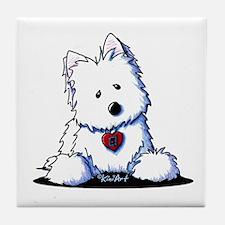 Westie Doorway To My Heart Tile Coaster